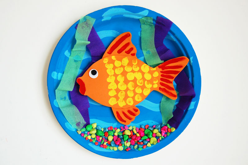 3d Goldfish Bowl Kids Crafts Fun Craft Ideas Firstpalette Com