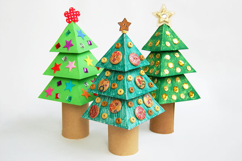3D Paper Christmas Tree | Kids' Crafts | Fun Craft Ideas ...