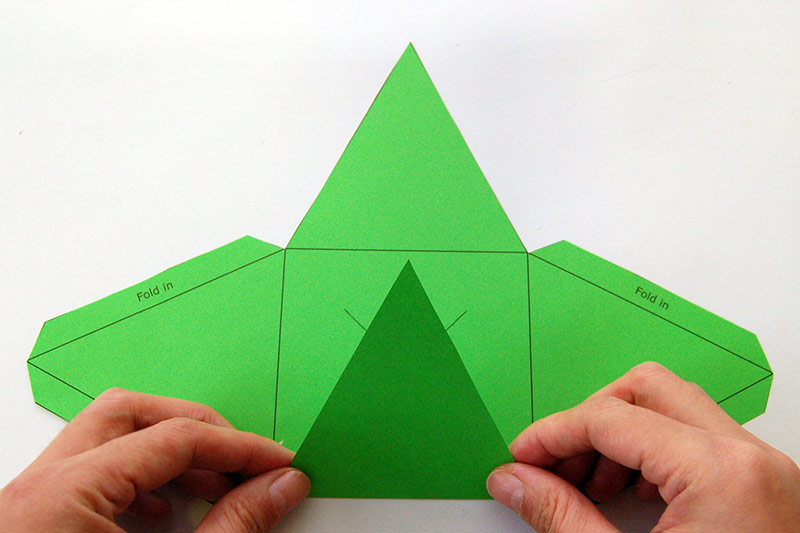 3D Paper Christmas Tree Craft