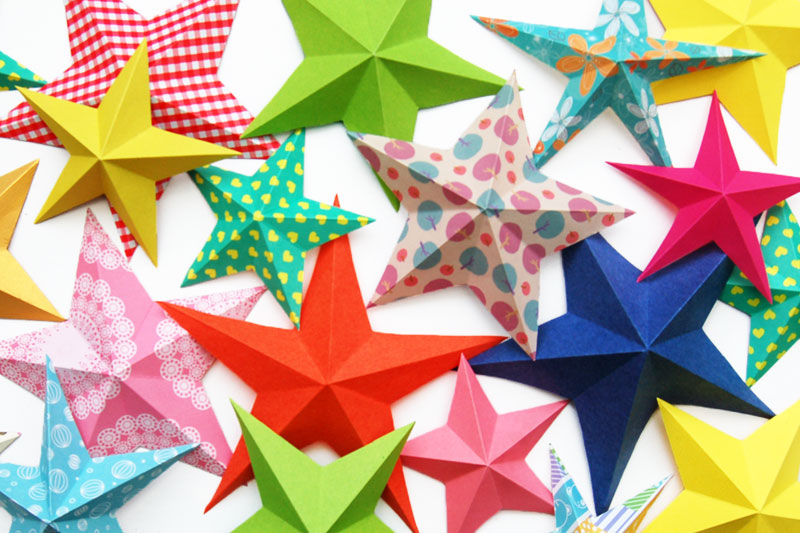 3D Paper Star Craft