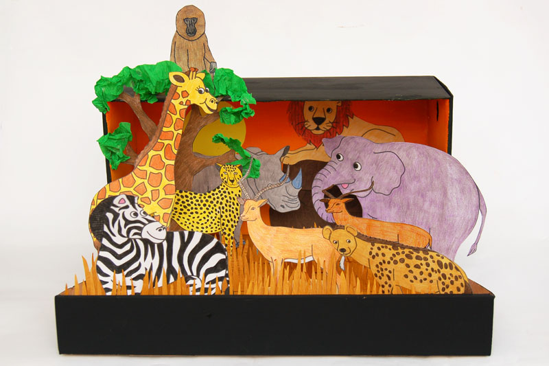 picture about Diorama Backgrounds Free Printable named African Savanna Diorama Little ones Crafts Enjoyment Craft Plans