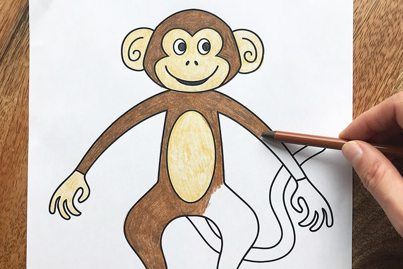 Monkey Free Printable Templates Coloring Pages Firstpalette Com