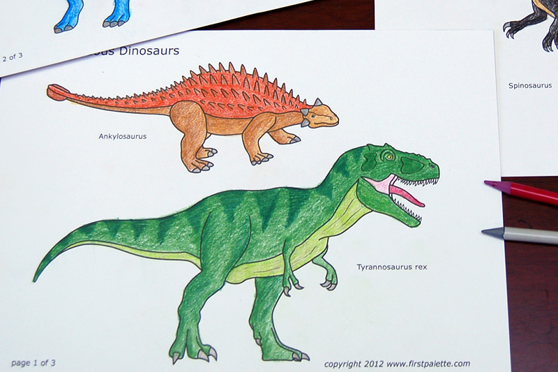 - Cretaceous Dinosaurs Free Printable Templates & Coloring Pages  FirstPalette.com