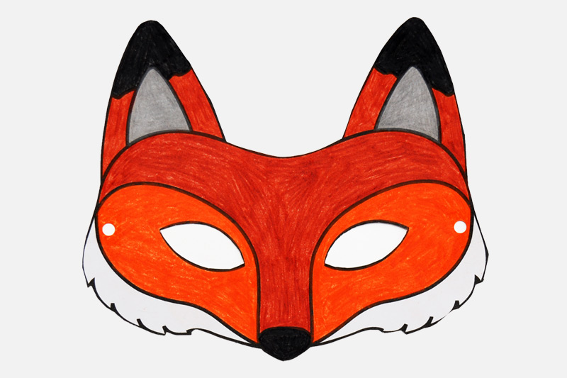 Geeky image throughout fox mask printable