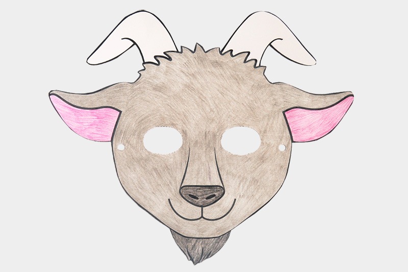 Goat Masks Free Printable Templates Amp Coloring Pages