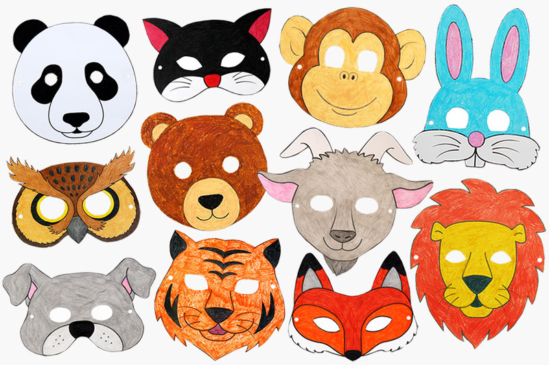 photograph regarding Animal Printable titled Printable Animal Masks Small children Crafts Entertaining Craft Suggestions