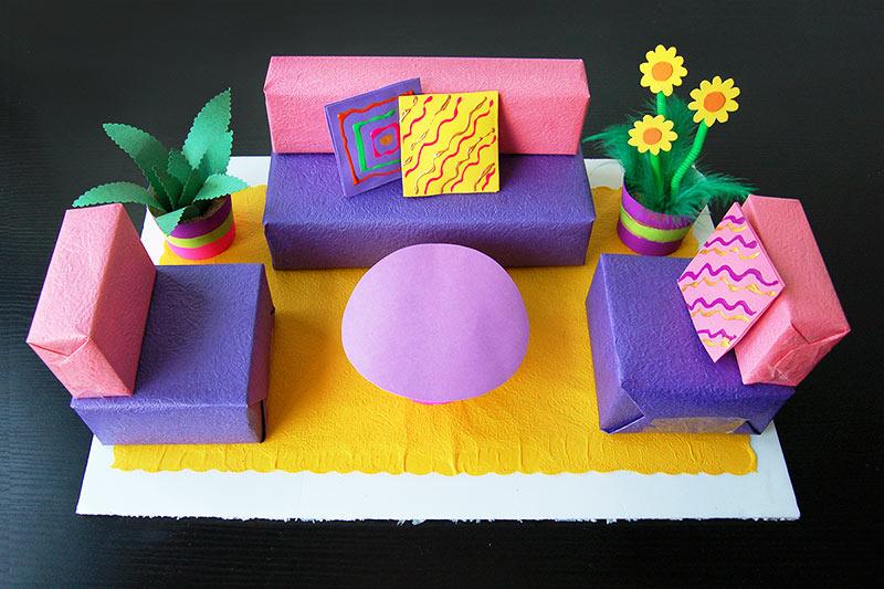 Box Living Room Kids Crafts Fun Craft Ideas
