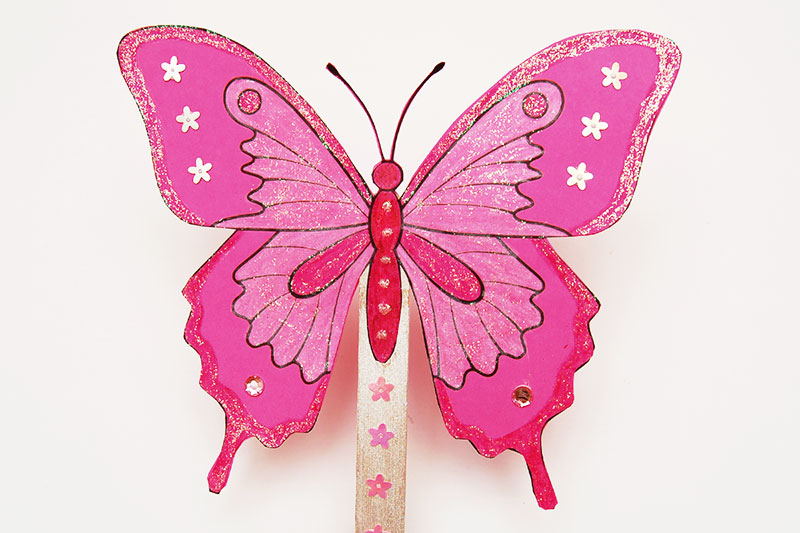 Butterfly Fan craft