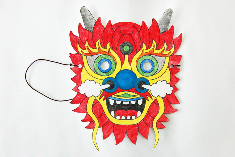Chinese Dragon Mask craft