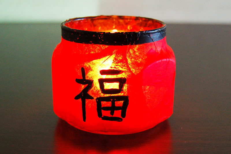 Chinese New Year Candle Holder craft