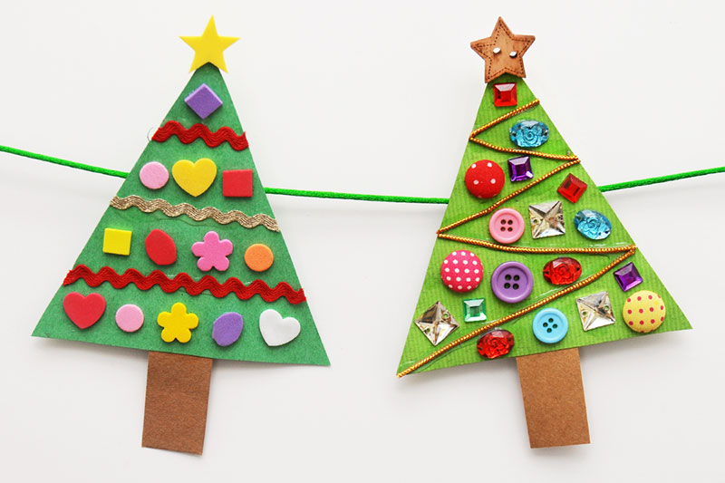 Christmas Tree Shapes Activity craft