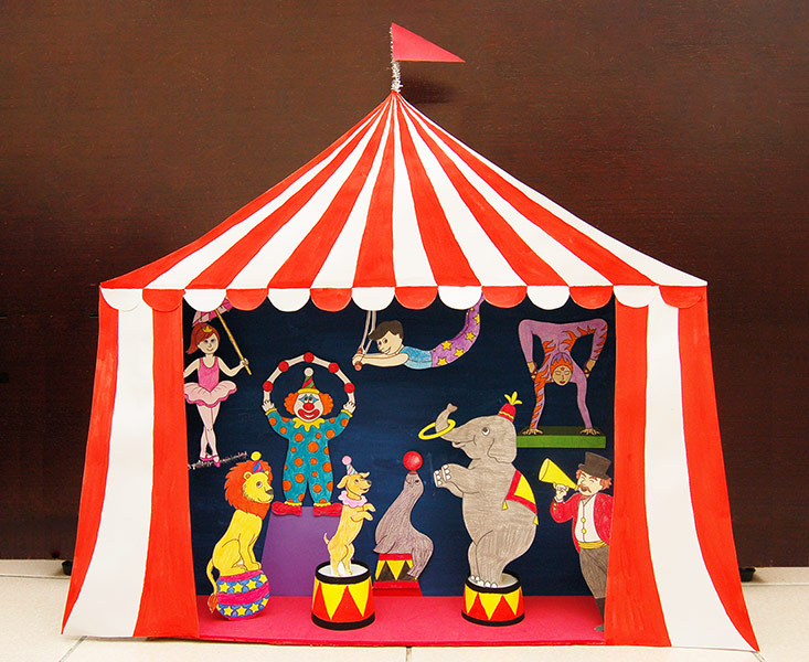 Circus Diorama And Puppet Theater Kids Crafts Fun