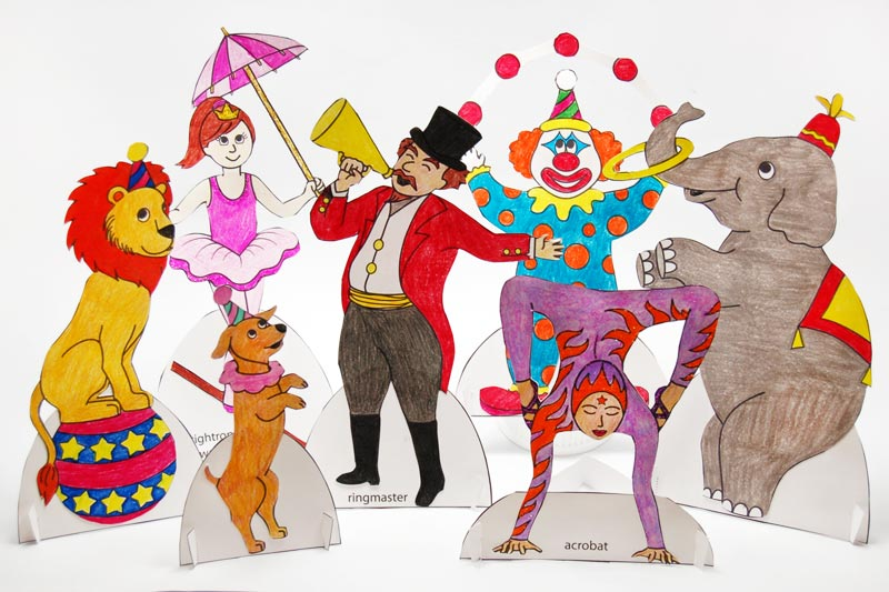 STEP 11 Circus Paper Dolls