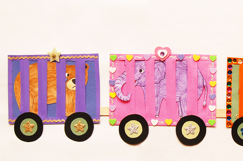 Circus Train Kids Crafts Fun Craft Ideas