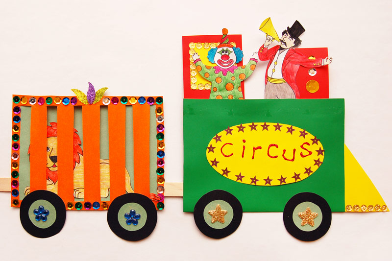 Circus Train Kids Crafts Fun Craft Ideas