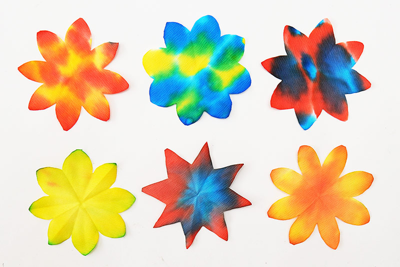 Coffee Filter Flowers - Two-Dimensional Flowers