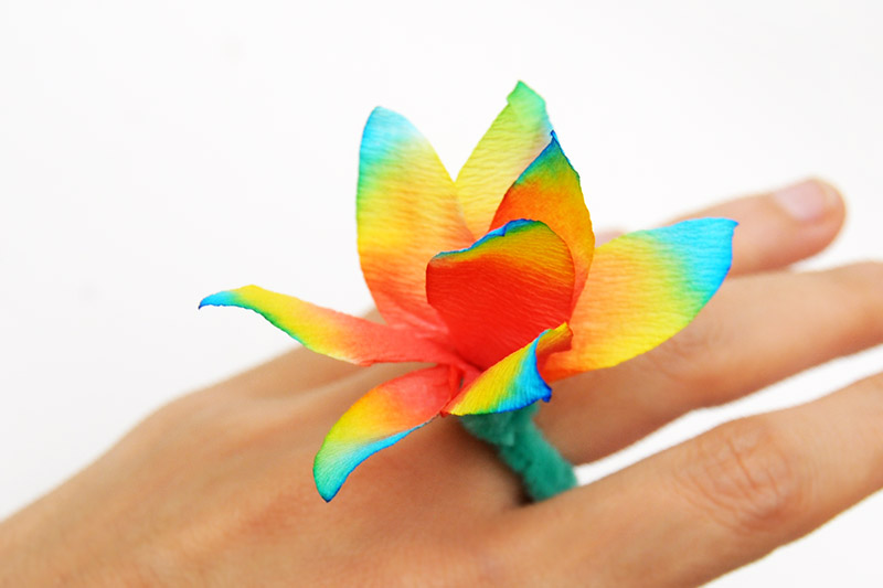 Coffee Filter Flowers - Ring
