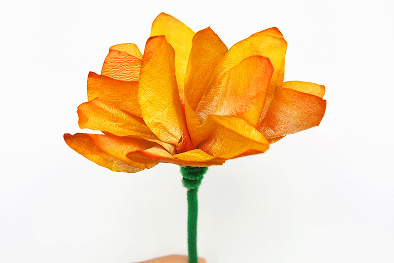 Coffee Filter Flowers - Three-Dimensional Flowers with Stem