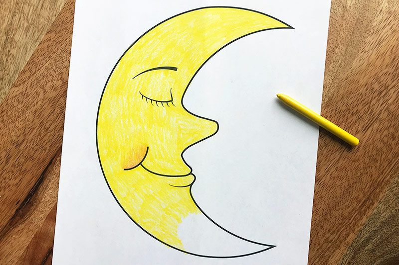 Moon Coloring Pages - GetColoringPages.com | 533x800