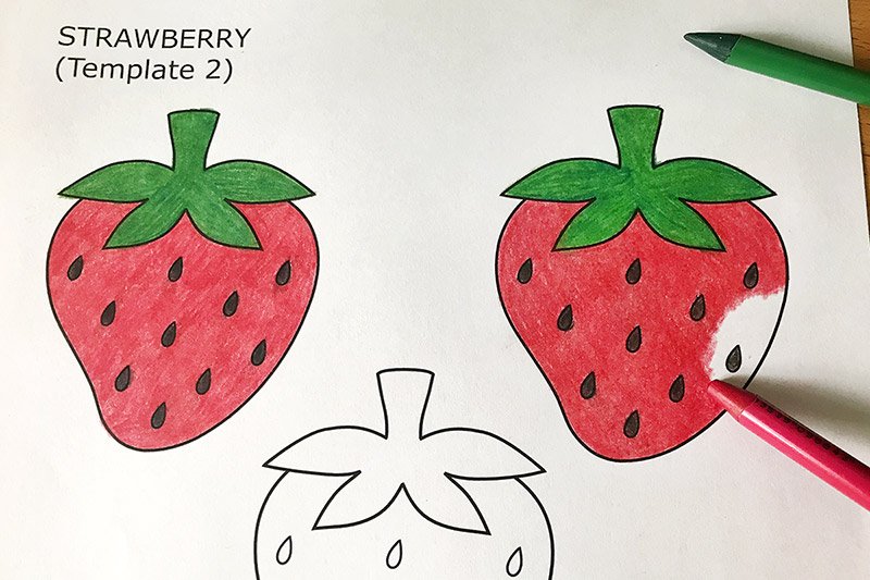 photograph regarding Strawberry Printable known as Strawberry No cost Printable Templates Coloring Internet pages