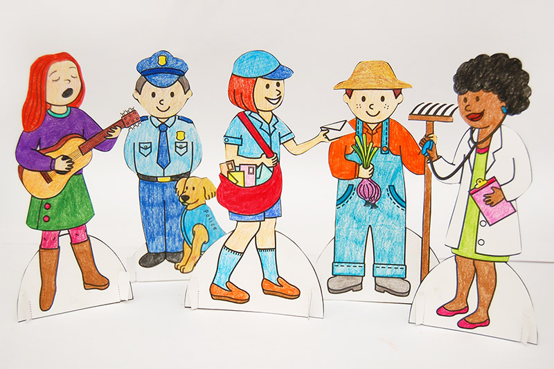 Community Helper Paper Dolls craft