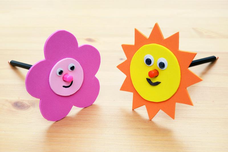Craft Foam Pencil Toppers Kids Crafts Fun Craft Ideas Firstpalette Com