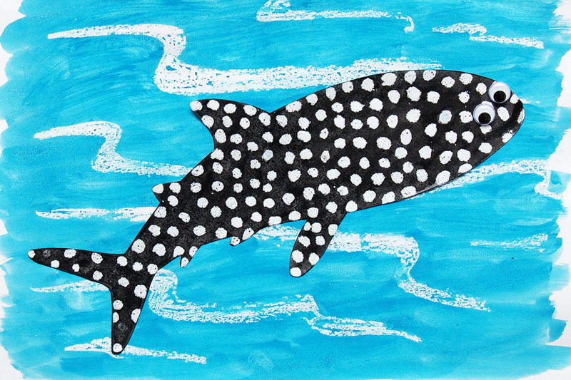 Crayon Resist Whale Shark craft