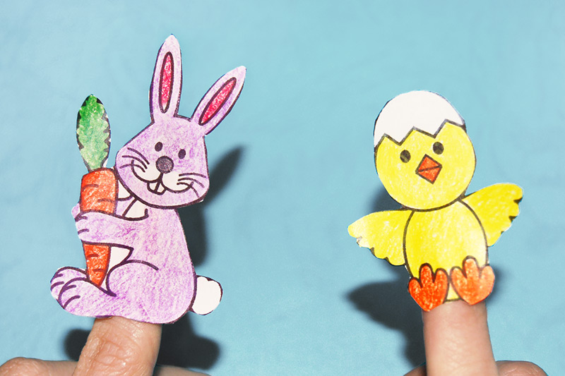 Easter Finger Puppets craft