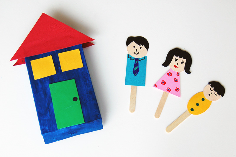 Family Stick Puppets craft
