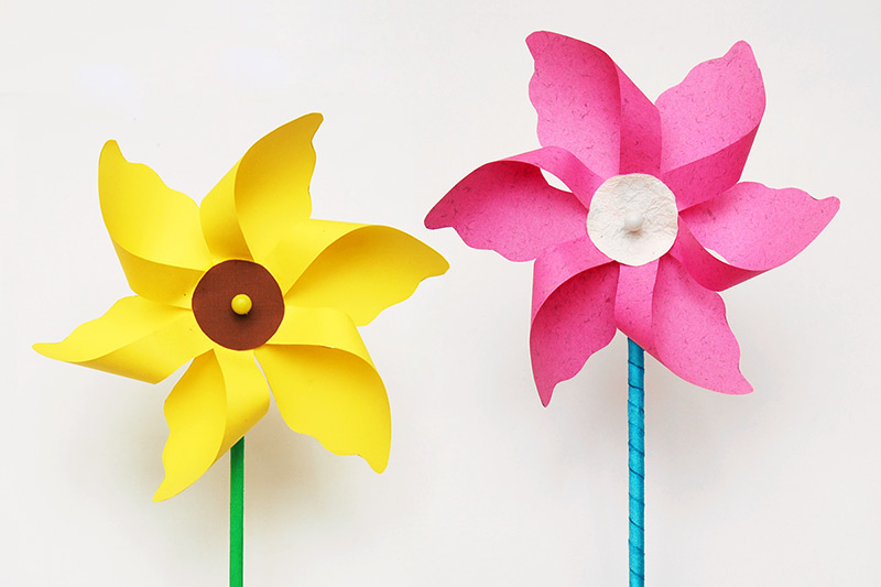 Flower Pinwheel craft