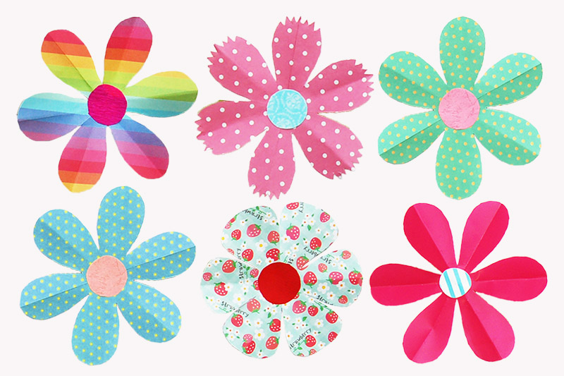 Folding Paper Flowers craft