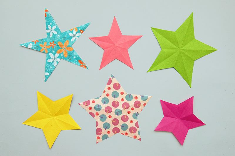 Folding Paper Stars Kids Crafts Fun Craft Ideas Firstpalette Com