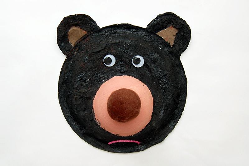 Fuzzy Paper Plate Bear Kids Crafts Fun Craft Ideas