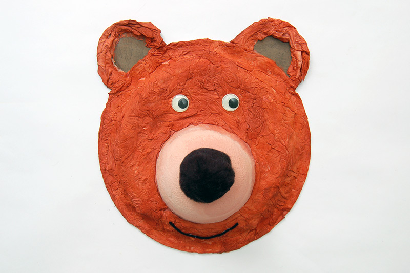 Paper Plate Brown Bear