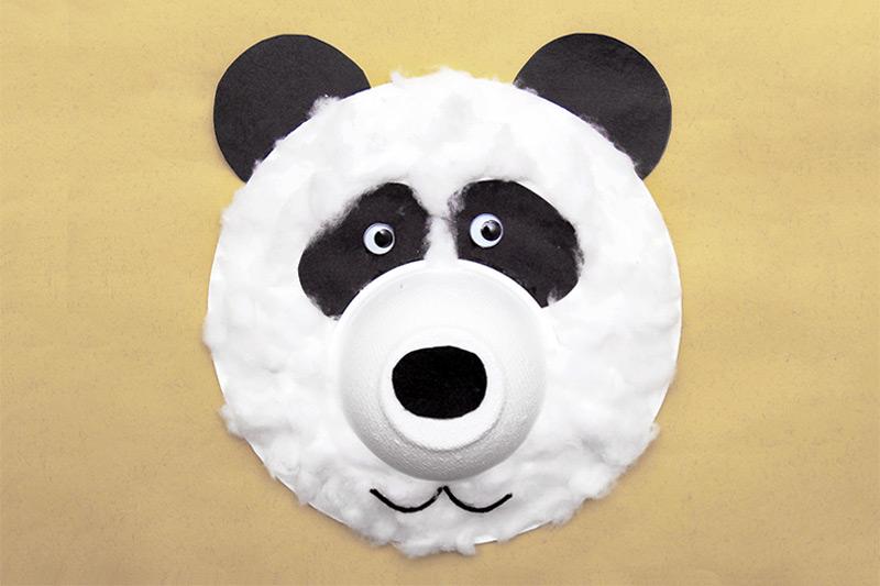 Fuzzy Paper Plate Bear Kids 39