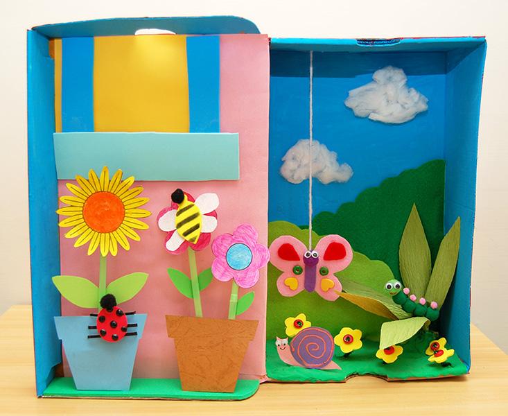 Garden Diorama Kids Crafts Fun Craft Ideas Firstpalette Com