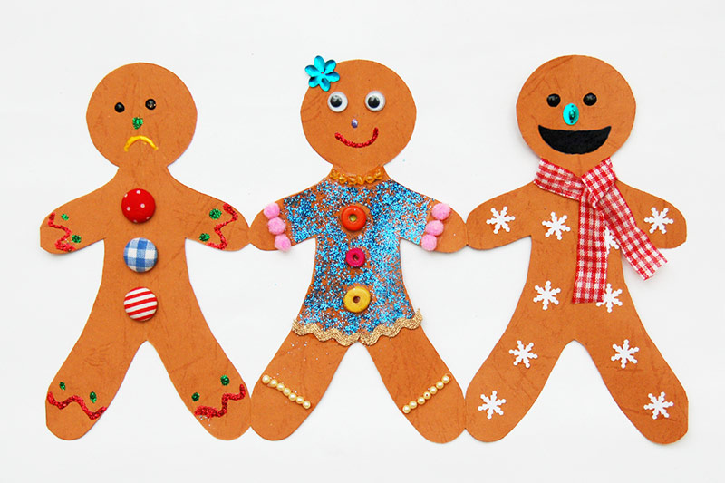 Paper Gingerbread Man Chain