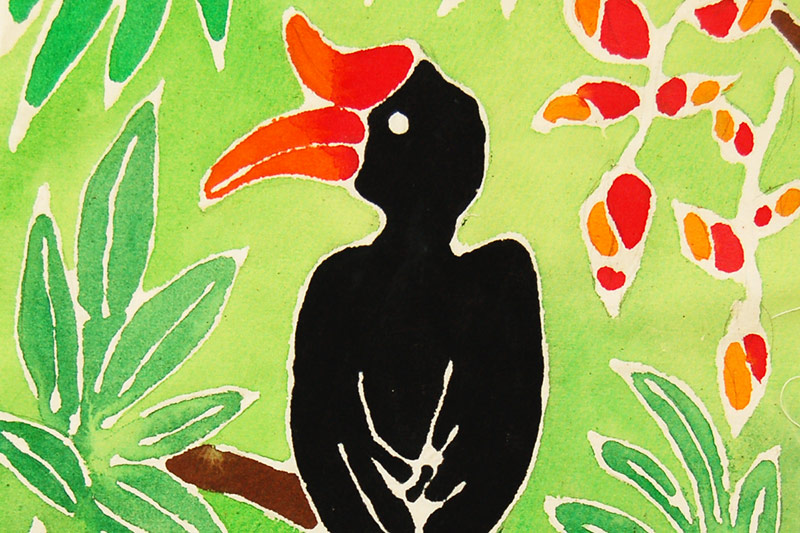 Glue Batik - Tropical Bird