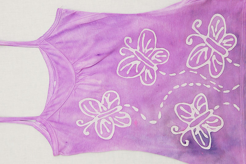 Glue Batik - Tank Top with Butterfly Batik