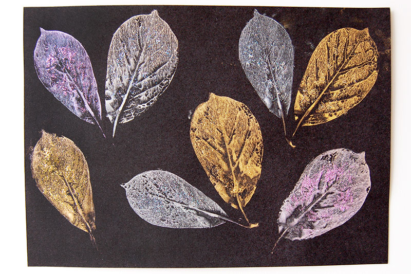 MORE IDEAS - Try making some metallic leaf prints.