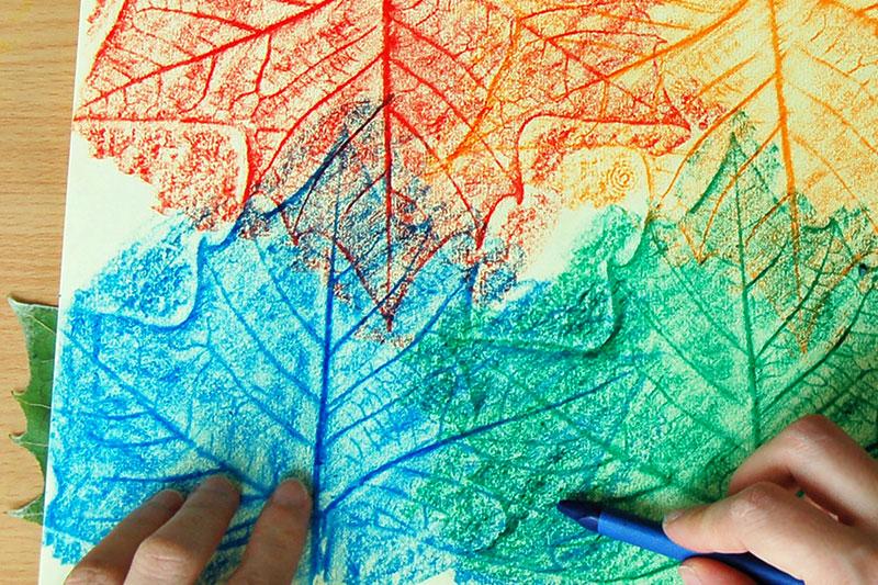 Leaf Rubbings | Kids' Crafts | Fun Craft Ideas