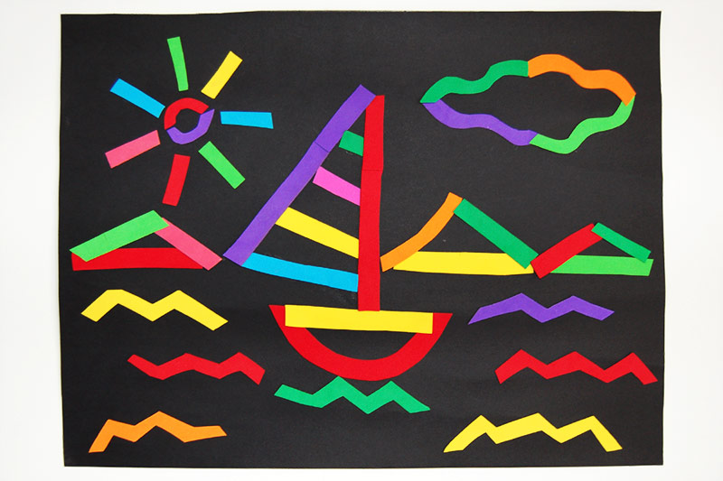 Line Pictures Craft - Sailboat