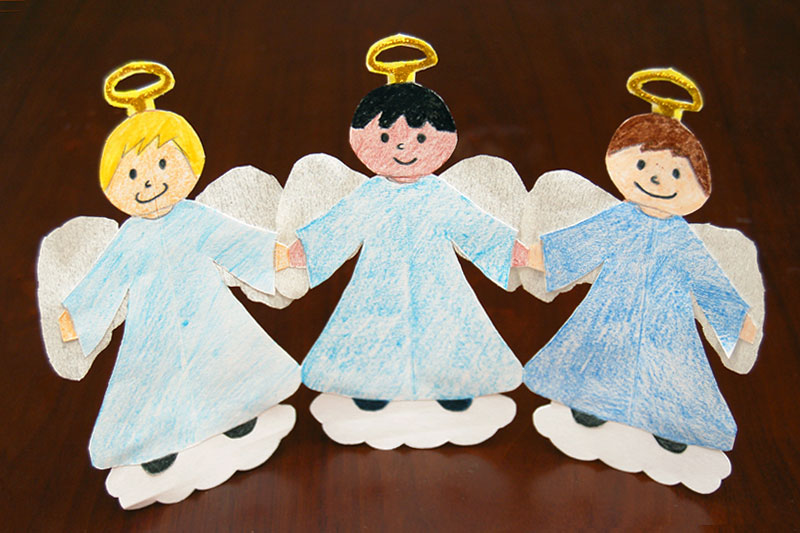 Paper Angel Chain craft