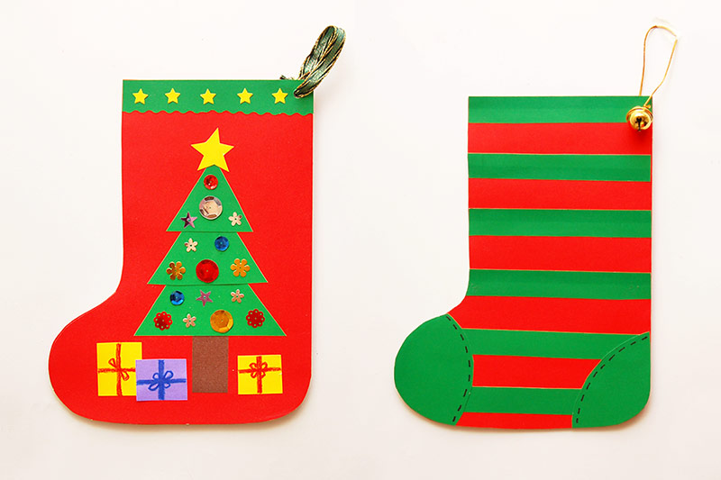 Paper Christmas Stocking