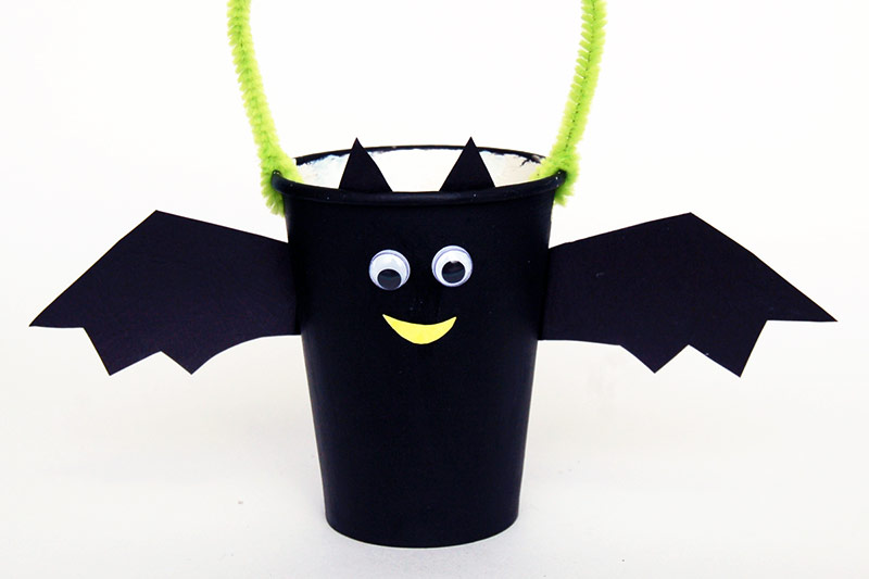 Paper Cup Bat Basket craft