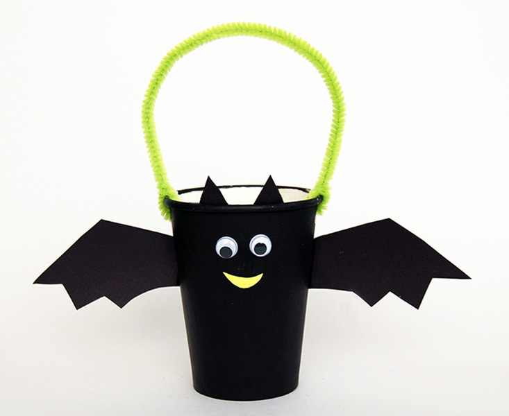 Paper Cup Bat Basket Kids Crafts Fun Craft Ideas
