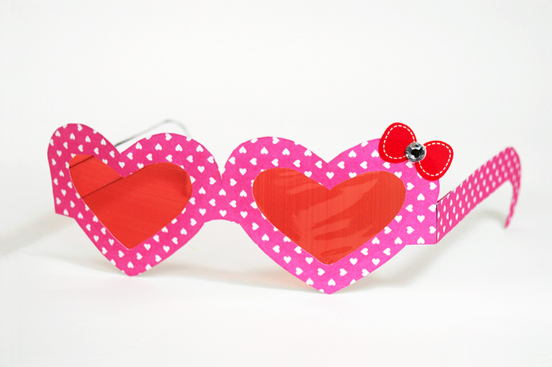 Paper Eyeglasses - Heart-Shaped