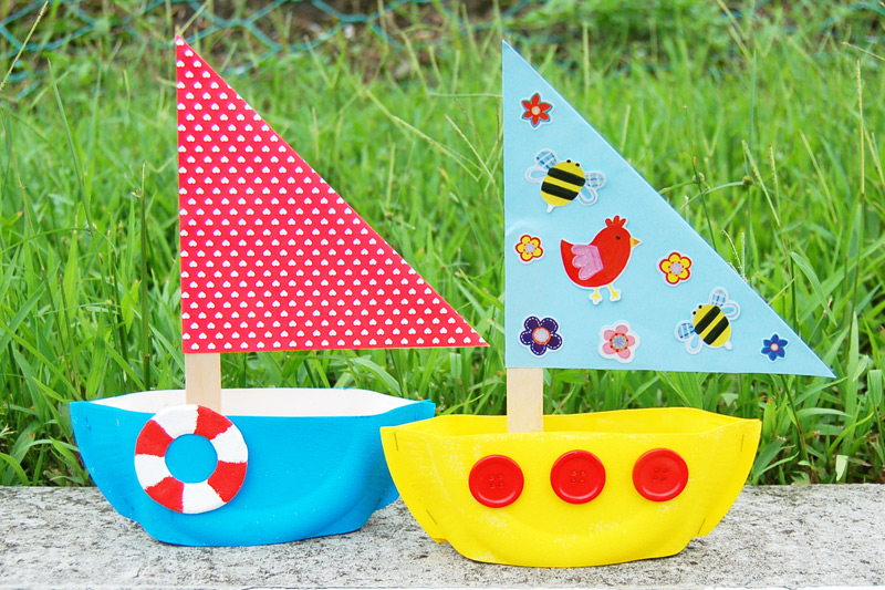 Paper Plate Sailboat craft