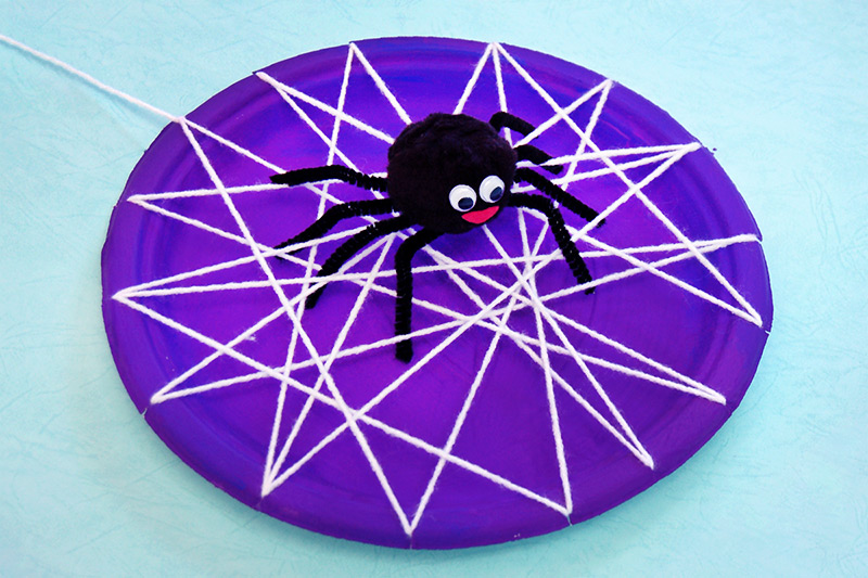 Paper Plate Spider Web craft