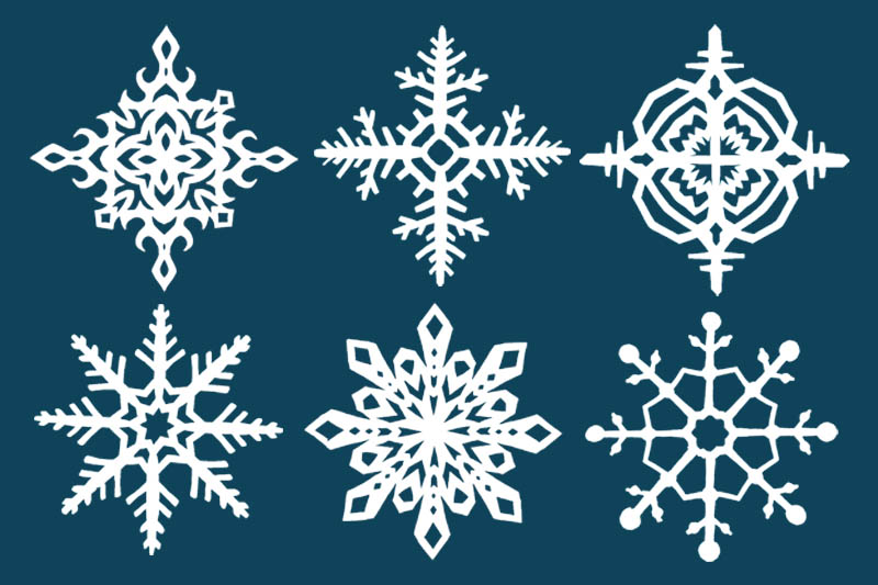 Paper Snowflake (4 and 8 Sides)
